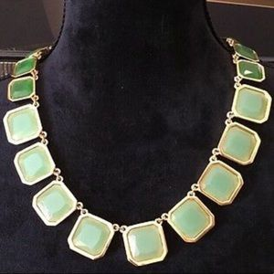 Kate Spade green stone necklace